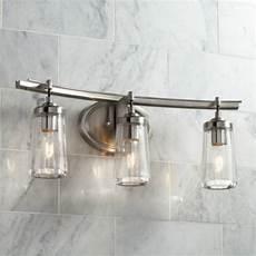 poleis 3 light 24 quot wide brushed nickel bath light 9g439 ls plus