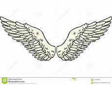 doodle wings stock vector illustration of angelic