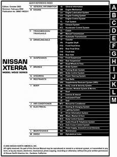 free download parts manuals 2004 nissan xterra engine control nissan xterra model wd22 series 2004 service manual pdf online download