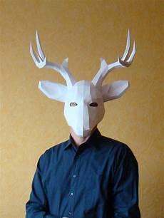 deer mask stag mask printable diy pdf template