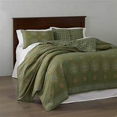 block print mandala bedding olive green bedding serrv international