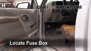 Interior Fuse Box Location 1992 1999 Chevrolet C1500
