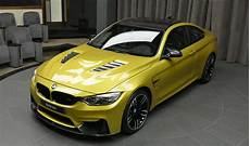 bmw m4 in yellow colour looks like a real best