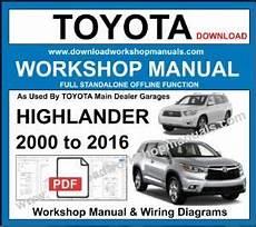 chilton car manuals free download 2011 toyota highlander security system toyota highlander workshop repair manuals