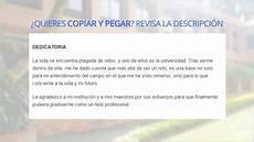 dedicatoria de tesis a la instituci 243 n youtube