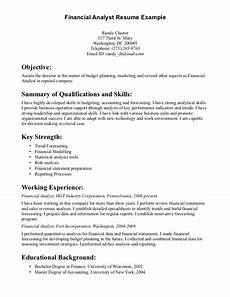 resume for entry level financial analyst resumesdesign