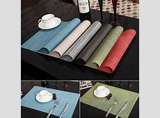 4pcs Quick drying Placemats Insulation Mats Table Coasters