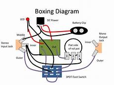 guitar effects wiring diagram a generic stompbox wiring diagram simple circuit electronic schematics diy guitar pedal