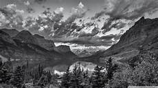 wallpaper hd 4k black and white glacier national park montana black and white 4k hd