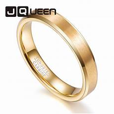 wedding bands 4mm tungsten ring personality style gold color anniversary date man s