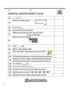 year 3 mental maths worksheets 10 math mental maths worksheets math worksheets mental