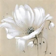toile beige fleurs blanches couteau peinture 224 l huile mur