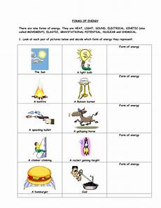 types of energy worksheet forms of energy by gregodowd teaching resources
