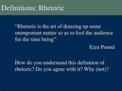 Rhetoric Meaning