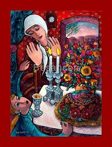 judaica and gifts by israeli artists ajudaica com shabbat candels canvas rabbi yitzchak besancon painting frame wall art