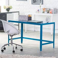 quality home office furniture simple modern metal office desk in teal blue finish