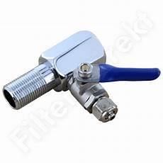 3 4 Quot Wasseranschluss Mit Absperrhahn F 252 R Wasserfilter Ebay