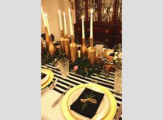 Gold, Black, and White: My 30th Birthday Dinner Party