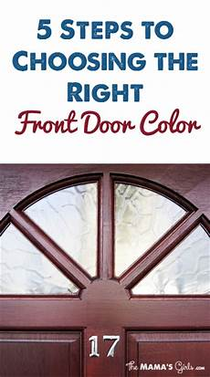 5 steps to choosing the right front door color