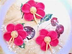 fiori di pasta di zucchero senza stini facili idee tutorial fiori 5 petali con pasta di
