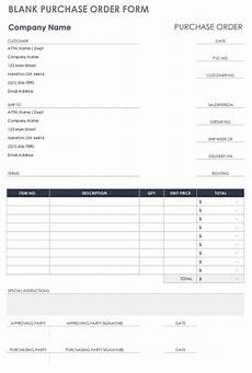 free purchase order templates smartsheet