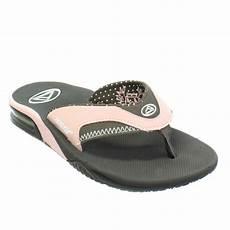 womens reef fanning brown pink surf sandals
