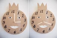 manualidad con ni 241 os reloj de cart 243 n aprender las horas manualidades relojes