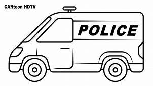 Police Van Coloring Pages Video Colors Vehicles