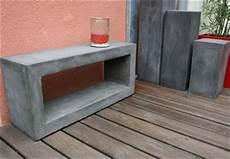 meuble tv beton ciré table rabattable cuisine meubles en beton cire