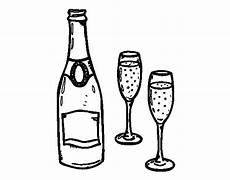disegni di bicchieri disegno di chagne e bicchieri da colorare acolore