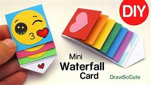 How To Make A Mini WATERFALL CARD – DIY Fun Easy Craft