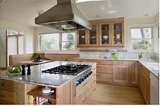Kitchen Backsplash Ideas With Birch Cabinets by Birch Cabinets With White Countertop Kitchen