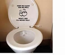 toilet seat vinyl decal sticker 3 keep me clean