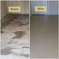 Floor Before And After by Before And After Garage Floor Using Quickcrete Garage