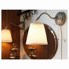 details about ikea minut wall l sconce white 6 glass corded plug in wall lights led