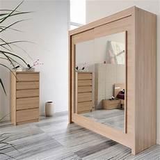 Armoire 2 Portes Coulissantes Avec Miroirs