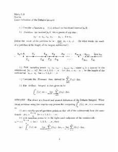 limit definition of the definite integral worksheet for higher ed lesson planet