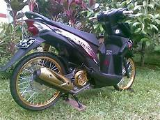 Modifikasi Beat Jari Jari by Modifikasi Honda Beat Fi Pelek 17 Jari Jari Warna Hitam
