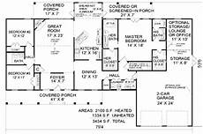 2100 square foot house plans country style house plan 3 beds 3 baths 2100 sq ft plan