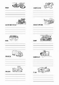 means of transportation vocabulary esl worksheet by lekangel