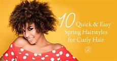 10 quick easy spring hairstyles for curly hair simply