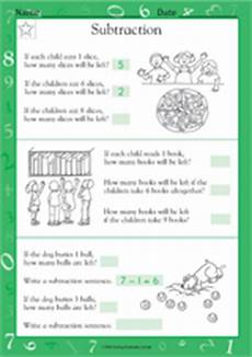 subtraction word problems worksheets for grade 1 10465 subtraction word problems worksheet grade 1 teachervision