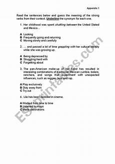 grammar worksheets using strong verbs 24689 worksheets strong verbs appendix 1