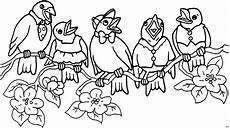 Gratis Malvorlagen Vire Singende Voegel 2 Ausmalbild Malvorlage Tiere