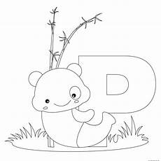 animal alphabet letters to print and color letter p for
