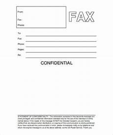 fax cover sheet confidential free printable letterhead
