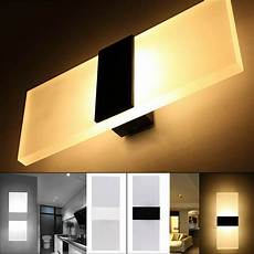 modern acrylic led wall sconces bedside l fixture home