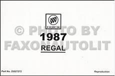 free car repair manuals 1987 buick regal head up display 1987 buick regal and grand national owner s manual reprint