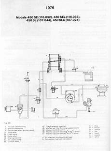 1976 450 Sl Vacuum Line Diagram Peachparts Mercedes