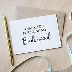 thank you for being my bridesmaid card by sincerely may